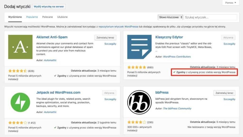 Jak zaktualizować motywy i wtyczki WordPress za pomocą pliku ZIP